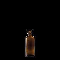 100 ml Meplatflasche - Braunglas - GL 22 Gewinde